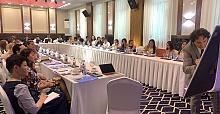 Vatan Öz, Kazakistan Almati'de genç gazetecilere seminer verdi