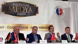 Avrupa Türk Medya Zirvesi'nde Vatan Öz konuştu