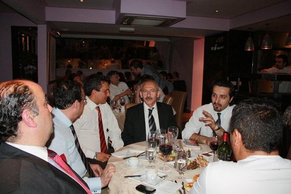Kemal Kılıçdaroğlu Demokrasi Paneli yemeği Londra